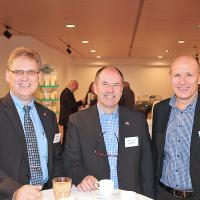 BeatJakoberger, conseiller d'entreprise chez CSS, canton AG, DanielHürzeler, directeur de Gysin+Gerspacher AG, ThomasJenni, directeur de la section UPSA Soleure (de g. à d.)