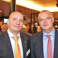 Christoph Aebi, CEO AutoScout24, Robert Brändli, Verkaufsdirektor Auto Cembra MoneyBank