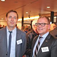 HeikoHaasler (directeur exécutif d'EurotaxSuisse) et Wolfgang Schinagl (Auto-i-DATSA)