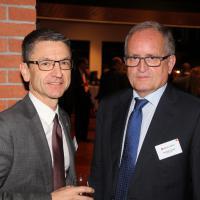 Peter Götschi (président du TCS) et François Launaz (président d'auto-suisse)