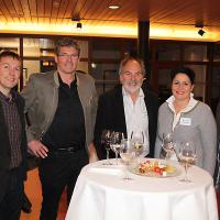 Walter Neuenschwander (chef d'exploitation de Heinz Schaub AG), Viktor Baumann (directeur / propriétaire de Baumann AG), Heinz Schaub (directeur / propriétaire de Heinz Schaub AG), Daniela Schneeberger (conseillère nationale canton BL, PLR) et Christian Müller (vice-président de la section UPSA de Zurich)