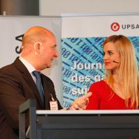 Christoph Aebi et la modératrice Miriam Rickli