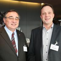 Thomas Wartmann (Baumgartner AG) und Rolf Schürpf (Binelli & Ehrsam)