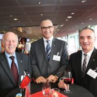 Ernaldo Bassetti, Marco Keller e Vittorio Gallo (Allianz Suisse)