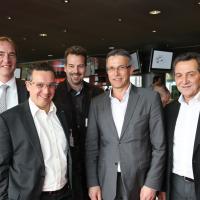 Diego De Pedrini (AGVS section Zürich), Andreas Billetter (AMAG), Daniel Bättig (Daniel Bättig AG), Fritz Bosshard (Kalchbühl-Garage)