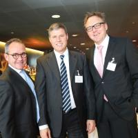 Nicolas Leuba (AGVS section Vaud), Roland Graf und Marcel Baier (Pensionskasse MOBIL)