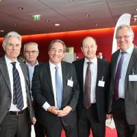 François Ott, César Pessotto, Philippe Robert, Pierre Daniel Senn et Jacques-André Maire