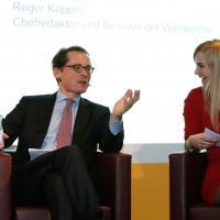Roger Köppel con Miriam Rickli