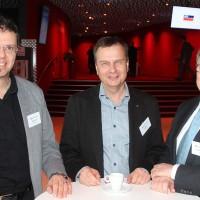 de g. Robert Brand (Turbotec GmbH), Ivo Musch (Président UPSA section UR) et Karl Baumann (UPSA)