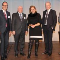de g. Jean-Marc Probst, Urs Wernli (Président central de l'UPSA), Christoph Blocher, Doris Fiala, Hans-Ulrich Bigler, Ulrich Giezendanner