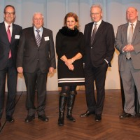 de g. Jean-Marc Probst, Urs Wernli (Président central de l'UPSA), Christoph Blocher, Doris Fiala, Hans-Ulrich Bigler, Ulrich Giezendanner, Patrick Rohr