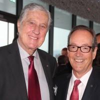de g. Roland Ayer (Président d'honneur UPSA) et Urs Wernli (Président central de l'UPSA)