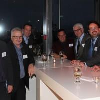 v.l. Diego De Pedrini (AGVS Sektion ZH), Christian Müller (Präsident AGVS Sektion ZH), Werner Ronner (Wirage AG), Daniel Bättig (Daniel Bättig AG), Andreas Billeter (Amag), Hans A. Mäschli (Mäschli Kreuzgarage AG), Ronald F. Betschart und Hans J. Mäschli (Mäschli Kreuzgarage AG)