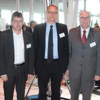 de g. Rudolf Leibundgut, Hubert Waeber, Giorgio Feitknecht, Markus Hutter et Charles Blättler (ESA)