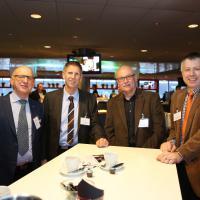 Bruno Sinzig, René Lafontaine (Schönegg-Garage), Ruedi Leibundgut (ESA) et Patrik Burkhardt (Schönegg-Garage)