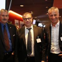 Franz Galliker (UPSA), Martin Ruckstuhl (Ernst Ruckstuhl AG) und Olivier Rhis (Scout24)