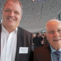 Philippe Durret (Durret Automobiles SA) et Christoph Blocher