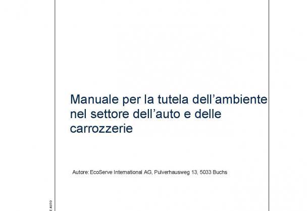 manuale per la tutola dell ambiente