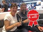 Eugen Burkhard mit Frau, Garage E.Burkhard AG Gunzwil.