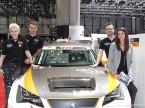 Young Driver Challenge: Präsentation am Auto-Salon: Martina Oertig, Nico Müller, Fredy Barth und Cyndie Allemann (v. l.).