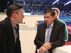 Sandro Compagno (AGVS-Medien) im Gespräch mit Markus Hesse (AGVS-Zentralvorstand).