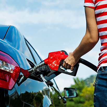 Wieviel ist das Benzin auf 25 km notwendig